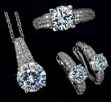 Pave Solitaire Crystal Collection